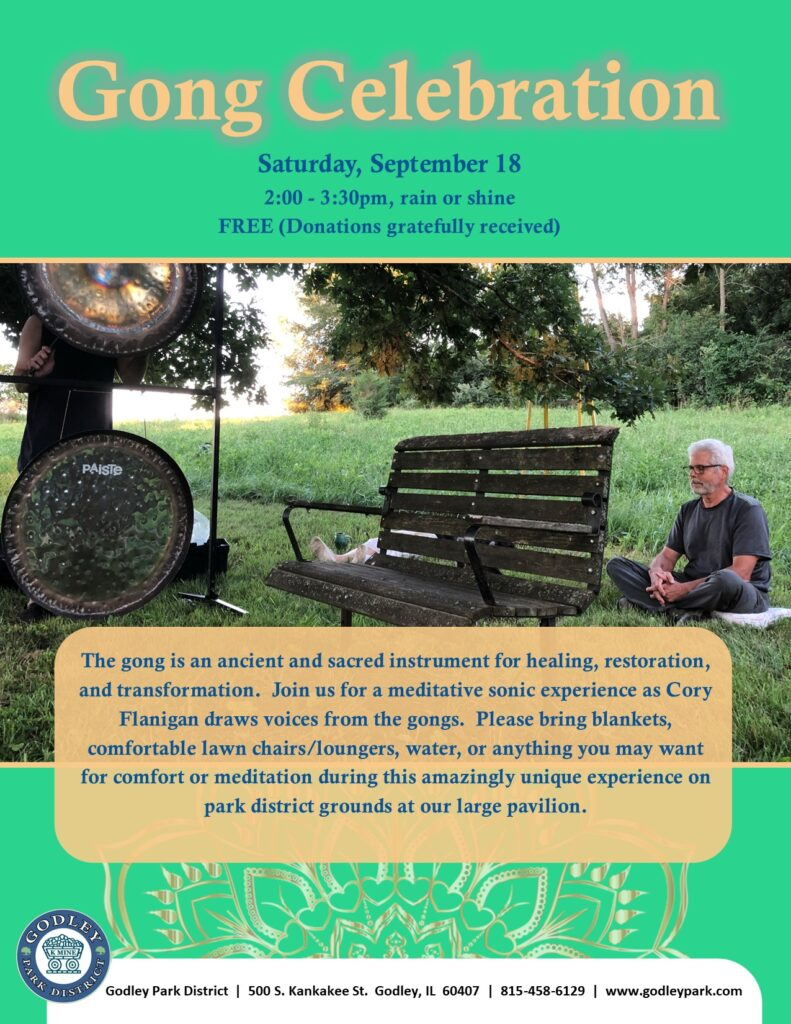 Free Gong Celebration Saturday, September 18 from 2:00 to 3:30pm at GPD Large Pavilion, rain or shine.